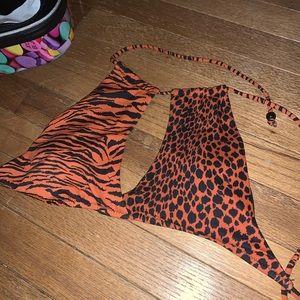Animal print Victoria Secret bikini top